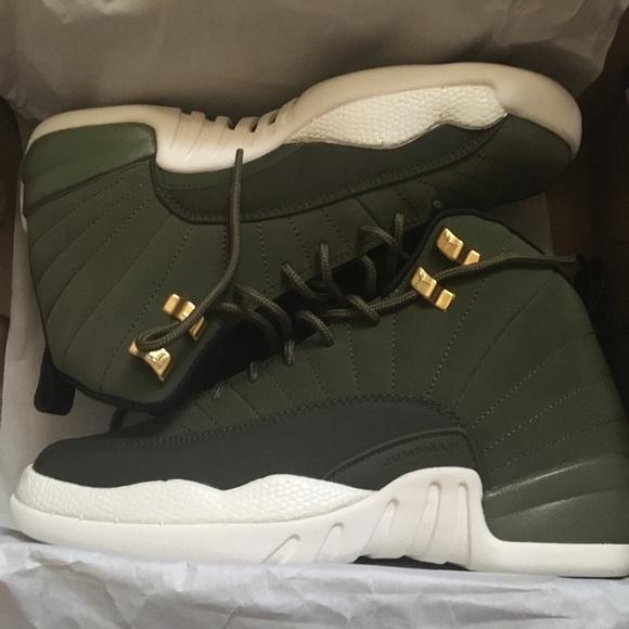 newest 81c01 b3b20 Jordan 12s Olive Green Size 6 NWT